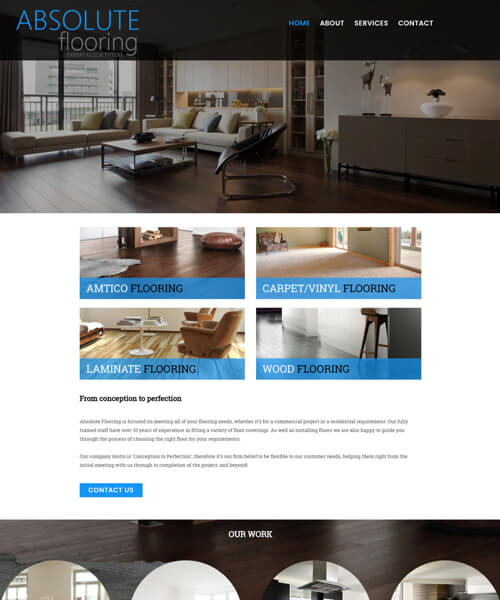 Absolute Flooring Web Design Example