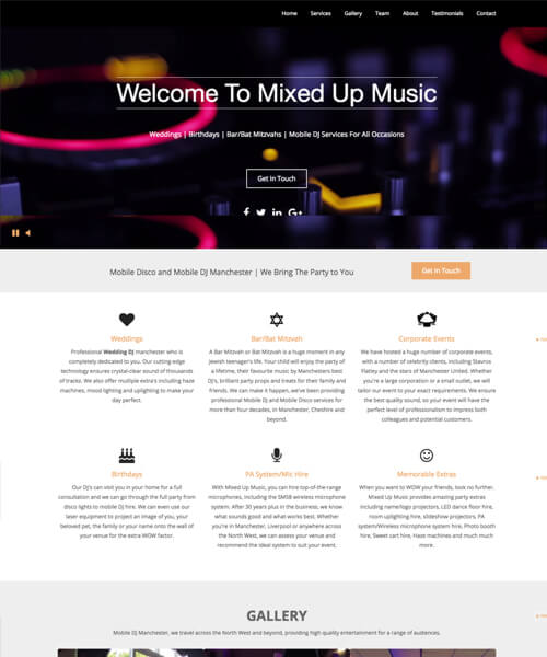 Mixed Up Music Web Design Example